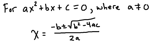 the-quadratic-formula